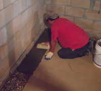 French Drain - Hydrostatic Pressure Relief System