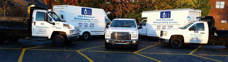 Basement Waterproofing Company Long Island Vehicle Fleet Photo